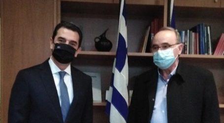 Συνάντηση στο Υπουργείο Περιβάλλοντος και Ενέργειας του Συντονιστή της Αποκεντρωμένης με τον Υπουργό Κώστα Σκρέκα