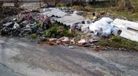 Αυτοσχέδια χωματερή – «κίνδυνος θάνατος» μέσα στη Λάρισα (φωτο)
