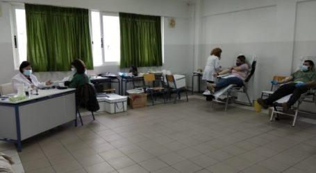 Μεγάλη συμμετοχή στην εθελοντική αιμοδοσία του ΕΕΕΕΚ Βόλου
