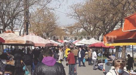 Βόλος: «Βούλιαξε» από κόσμο η λαϊκή αγορά [εικόνες]