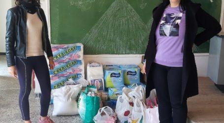 Τρόφιμα και είδη πρώτης ανάγκης στους σεισμοπαθείς από τις τοπικές κοινότητες Πλατυκάμπου και Μύρων του Δήμου Κιλελέρ