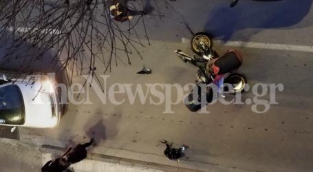 Τροχαίο ατύχημα με μοτοσυκλέτα στον Βόλο [εικόνες]