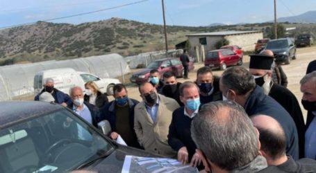 Επίσκεψη του Υπουργού Υποδομών και Μεταφορών Κώστα Καραμανλή στο Δαμάσι