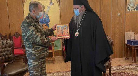 Επίσκεψη του Διοικητή της 1ης Στρατιάς στον Μητροπολίτη Λαρίσης (φώτο)