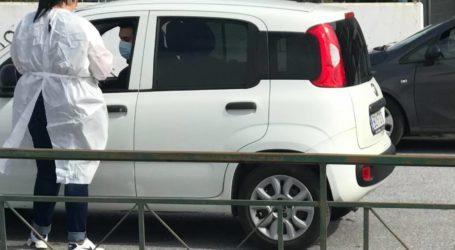 Συνεχίζονται τα rapid tests κορωνοϊού στο Πανθεσσαλικό στάδιο Βόλου [εικόνες]