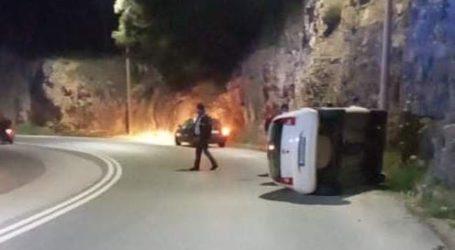 Τροχαίο ατύχημα στον Βόλο – Ανετράπη ΙΧ στη Γορίτσα [εικόνες]