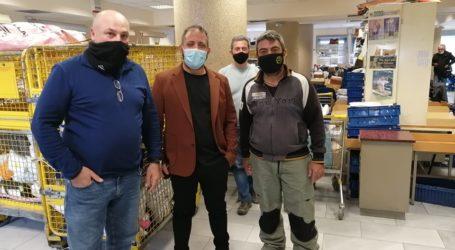 Ο Αλ. Μεϊκόπουλος στα ΕΛΤΑ Βόλου: «Στοιβαγμένοι όγκοι γραμμάτων & ασφυκτική πίεση στους διανομείς»