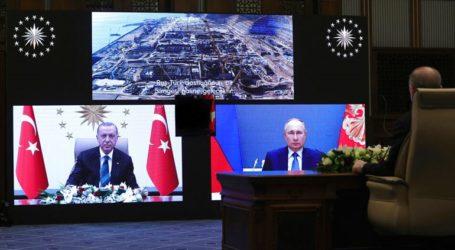 Πούτιν και Ερντογάν εγκαινίασαν μέσω τηλεδιάσκεψης τις εργασίες στο «Ακούγιου»