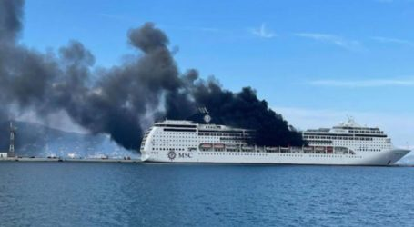 Υπό μερικό έλεγχο η φωτιά στο κρουαζιερόπλοιο MSC Lirica