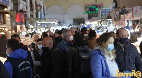 Αυξημένη η κίνηση στη Βαρβάκειο Αγορά
