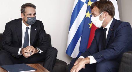 Τηλεφωνική συνομιλία του Κυριάκου Μητσοτάκη με τον Εμανουέλ Μακρόν