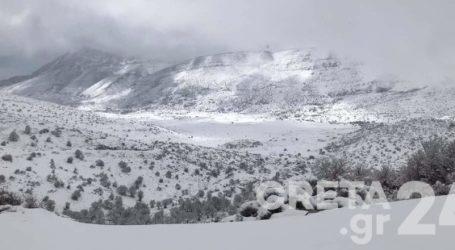 Στους 30 πόντους το …ανοιξιάτικο χιόνι στον Ψηλορείτη