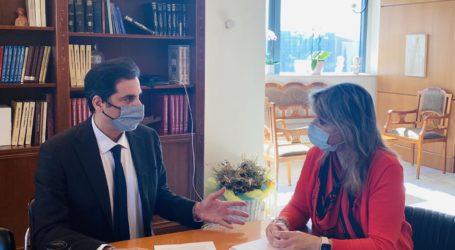 Η Ζέττα Μακρή με τον Η. Μοσκώφ, Εθνικό Εισηγητή για την Καταπολέμηση της Εμπορίας Ανθρώπων