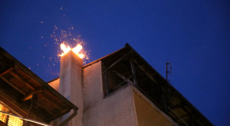 Βόλος: Φωτιά σε καμινάδα σπιτιού στο Φυτόκο