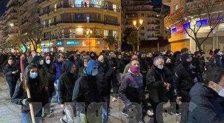 Πορεία στην Τσιμισκή σε ένδειξη αλληλεγγύης στον Δ. Κουφοντίνα