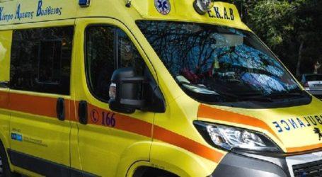 Τροχαίο στη Λάρισα: Τραυματίας μεταφέρθηκε στο ΓΝΛ και έπειτα στο εφημερεύον Πανεπιστημιακό Νοσοκομείο