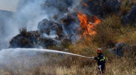 Φωτιά σε χορτολιβαδική έκταση στη Νέα Αγχίαλο