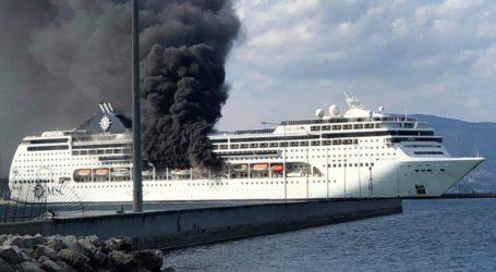 ΤΩΡΑ: Φωτιά σε κρουαζιερόπλοιο στην Κέρκυρα [βίντεο]
