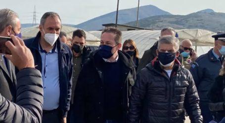 Έφθασε στο Δαμάσι ο αναπληρωτής υπουργός Εσωτερικών Στέλιος Πέτσας – Δείτε φωτογραφίες