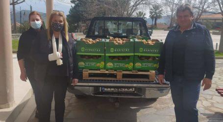 Ακτινίδια προσέφερε στο κοινωνικό παντοπωλείο Τεμπών ο Αγροτικός Συνεταιρισμός Πυργετού