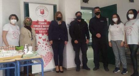 Εθελοντική αιμοδοσία από τους δημοτικούς αστυνομικούς του Βόλου