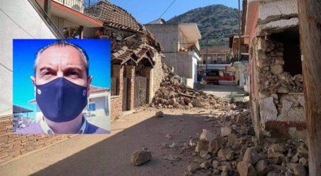 Δήμαρχος Ελασσόνας για το σημερινό σεισμό: Υπάρχει μεγάλη αναταραχή – Πέφτουν πολλά κομμάτια από σπίτια που κρίθηκαν μη κατοικήσιμα