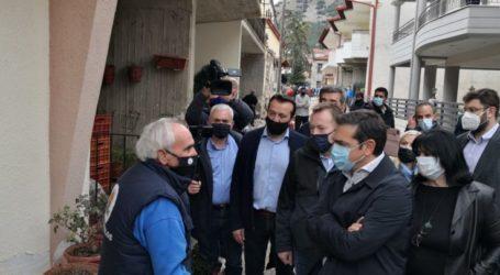 Τσίπρας από Δαμάσι: Κρίσιμο να δοθούν άμεσα οι αποζημιώσεις – Να γίνει κατ' εξαίρεση εμβολιασμός των πληγέντων (video)