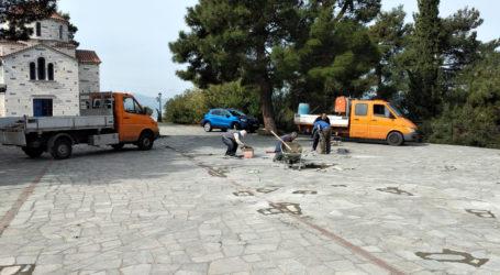 Αργύρης Κοπάνας: Επισκευές στις πλατείες και στους πλακόστρωτους δρόμους της Ανακασιάς