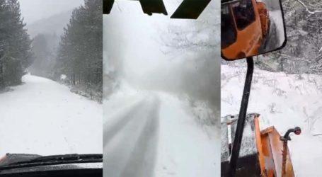 Δείτε εντυπωσιακό βίντεο: Χιονίζει για τα… καλά στα ορεινά της Λάρισας