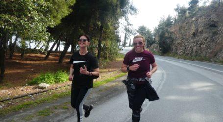 Με αμείωτους ρυθμούς συνεχίζουν τα 381 μέλη του Συλλόγου Δρομέων Υγείας Βόλου το τρέξιμο, τις πεζοπορίες και τις ασφαλείς δραστηριότητες στη φύση