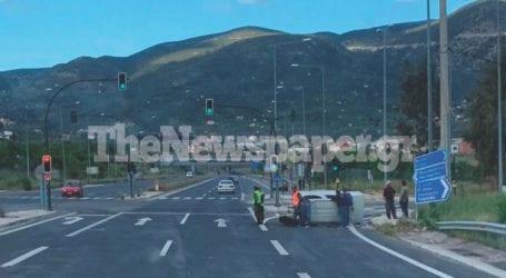 Βόλος: Τροχαίο ατύχημα στον Περιφερειακό – Ανετράπη ΙΧ [εικόνα]