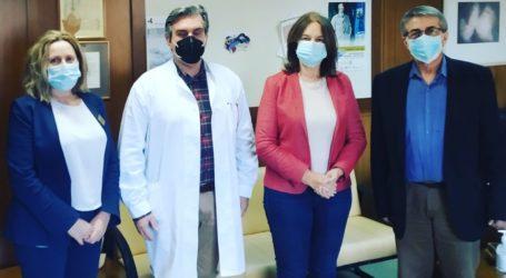 Επίσκεψη της Κ. Παπανάτσιου στο Γενικό Νοσοκομείο Βόλου