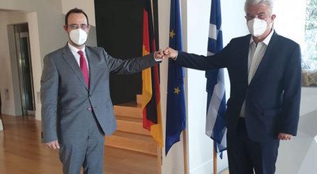 Συνάντηση του Κων. Μαραβέγια με τον Γερμανό πρέσβη