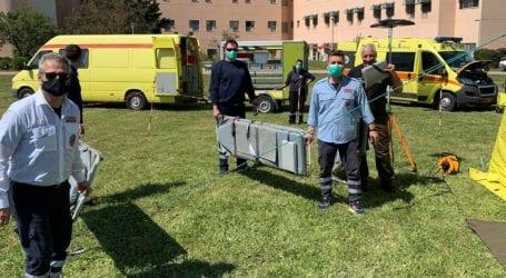 """Λάρισα: Τι θα συμβεί σε περίπτωση σεισμού ή θεομηνίας με τους τραυματίες; – Δείτε εικόνες από την άσκηση """"Πολυδεύκης"""" του ΕΚΑΒ"""
