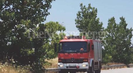 Αλμυρός: Ντελαπάρισε αγροτικό όχημα σε αρδευτικό κανάλι