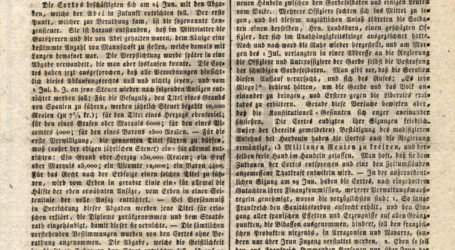 Η εφημερίδα του 1822 που αναφέρει ότι τουρκικά στρατεύματα ηττήθηκαν στη Λαμία και αναγκάστηκαν να υποχωρήσουν στη Λάρισα