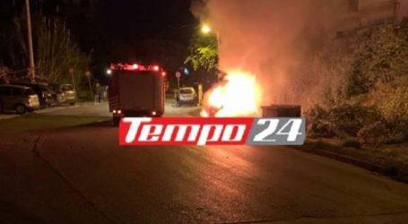 Πάτρα: Φωτιά σε σταθμευμένο αυτοκίνητο