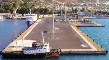Ζημιές στο λιμάνι της Σούδας από πρόσκρουση πλοίου