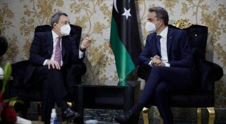 Συνάντηση Μητσοτάκη – Ντράγκι στη Λιβύη
