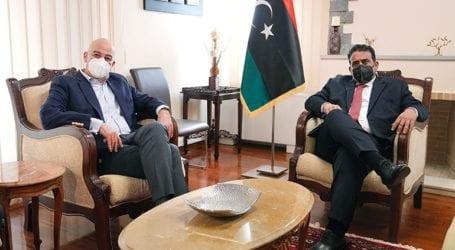 Συνάντηση Ν. Δένδια με τον πρόεδρο της Λιβύης