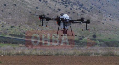 Επίδειξη πτήσης και ψεκασμού με drone στη Βοιωτία