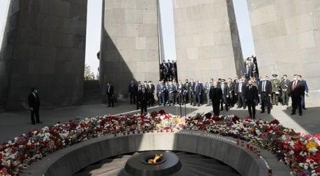 Διαδήλωση στο Γερεβάν για την 106η επέτειο από τη γενοκτονία των Αρμενίων