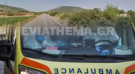 Τροχαίο ατύχημα στη Θηβών-Χαλκίδας με ανατροπή οχήματος και έναν τραυματία
