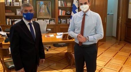 Συνάντηση Αγοραστού με τον Πρωθυπουργό για αγροτικές αποζημιώσεις, φράγματα, σεισμό, Ιανό  και Αχελώο