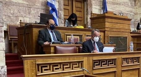 Χρ. Τριαντόπουλος: Παρουσίαση στη Βουλή των μέτρων στήριξης των πληγέντων από τον «Ιανό»
