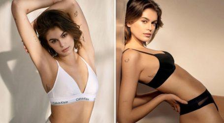 H Kaia Gerber ποζάρει τόπλες για τον Calvin Klein και κλέβει τις εντυπώσεις