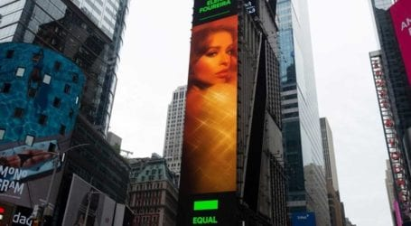 Ελένη Φουρέιρα: Μπήκε σε billboard στη φημισμένη Times Square της Νέας Υόρκης