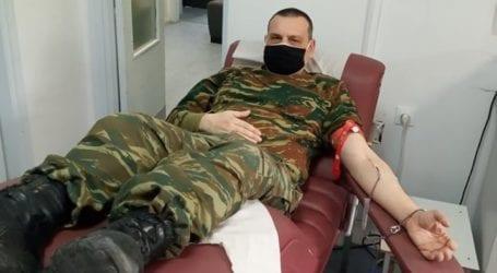 Ανοιξιάτικη εθελοντική αιμοδοσία από τον Σύνδεσμο Αποστράτων Αξιωματικών Τεχνικού Σώματος Θεσσαλίας