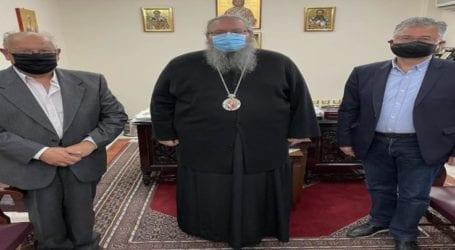 Αντιπροσωπεία του Συλλόγου Τριτέκνων ν. Λάρισας συναντήθηκε με το Μητροπολίτη κ. Ιερώνυμο