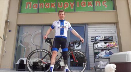 Στον ποδηλατικό γύρο της Φλάνδρας και στο Παγκόσμιο κύπελλο ΑμεΑ ο ποδηλάτης της Νίκης Βόλου Ν. Παπακυργιάκης